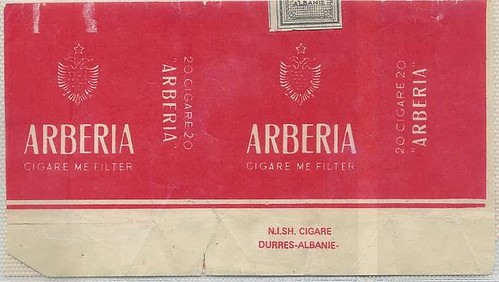 "ARBERIA, CIGARE ME FILTER. N.I.SH. CIGARE ""TELAT NOGA"", DURRES. ALBANIE."