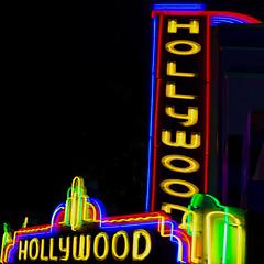 Hollywood Neon (aaronrhawkins) Tags: neon sign hollywood hollywoodboulevard display street theater color colorful night dark bright aaronhawkins