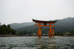 厳島神社 大鳥居 - The Great Torii of Miyajima (Hachimaki123) Tags: 日本 japan 厳島 itsukushima 宮島 miyajima 風景 paisaje landscape 厳島神社大鳥居 大鳥居 thegreattoriiofmiyajima torii