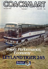 Clyde Coast Leyland Tiger, TSJ 140Y (miledorcha) Tags: ccs clyde coast services ltd saltcoats frazer fairlie leyland tiger trctl113r 245 plaxton paramount 3500 high floor luxury travel tours holidays coachmart magazine trade advert sales promotional scotland psc pcv tsj140y