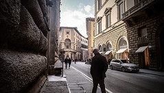 Just a man, in a city (saveriosalvadori) Tags: tuscany florence architecture architettura cielo sky man