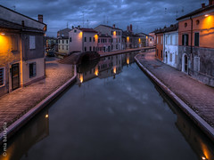 Comacchio, Italy (Mia Battaglia photography) Tags: village water nightscape night hdr comacchio italy exif:model=em1markii camera:make=olympus exif:make=olympus exif:aperture=ƒ28 exif:isospeed=800 exif:lens=olympusm714mmf28 camera:model=em1markii exif:focallength=11mm bluehour