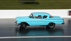 Chevy_8118 (Fast an' Bulbous) Tags: car automobile vehicle motorsport fast speed power acceleration drag strip race track santapod panning outdoor nikon d7100 gimp