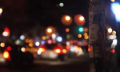 Crazy busy traffic lighting (Xu@EVIL Cameras) Tags: wollensak cine velostigmat 2in 50mm f15 machine version lens night traffic lightning car streetshooting bokeh