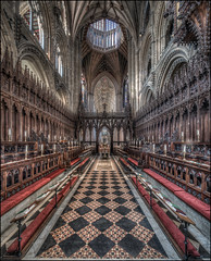 Ely Cathedral 2018 -5 (Darwinsgift) Tags: ely cathedral interior hdr chancel choir photomatix nikkor pc e 19mm f4 merge tilt shift nikon d850