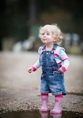 Annie. (arthurbikemad1) Tags: easter puddle jumping toddler baby girl wellys cute boots pink