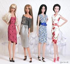 Miyako, Sasha, Yumi, Ayumi (grsve) Tags: doll fashionroyalty integritytoys nuface ayuminakamura firstblush totalbetty hauntinglylovely powerhouse