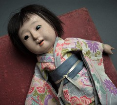 Suzume (shero6820) Tags: ichimatsu ningyo japan taisho earlyshowa gofun doll old vintage antique kimono toy