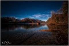 Abend am Almsee (Karl Glinsner) Tags: landschaft landscape österreich austria oberösterreich upperaustria berge mountains see lake salzkammergut almsee almtal outdoors abend evening