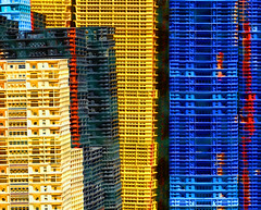 Lovely rental appartments (Le.Patou) Tags: couleur color patchwork casier oyster rack huitre beach plage abstract abstraction empilement pile stack fz1000