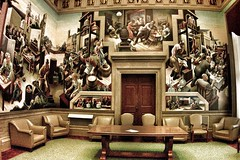 Jefferson City  Missouri ~ State Capitol  ~  The House Lounge (Onasill ~ Bill Badzo) Tags: jeffersoncity mo missouri bento room lodge murals houselounge public art tour state capitol thomashartbenton bentonroom benton visitors attraction history travel vacation house onasill building indoor architecture mural painting governors reception guided self attractionsite vintage old photo slaves song city jefferson