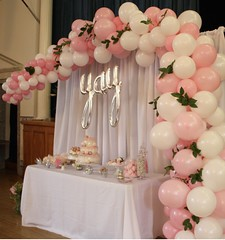 Dreamery Events (PartiLife) Tags: arches organic pink white birthday organicarch christening communion