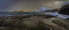 Ballintoy Beach (www.nmcqueenphotography.com) Tags: rainbow beach sun sunset water ocean rocks cliffs sheep island northernireland ireland game thrones gameofthrones rockpools waves dramatic clouds colours landscape canon