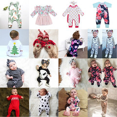 US Stock Toddler Baby Boy Girl Kids Romper Bodysuit Jumpsuit Outfits Clothes Set (laplace777) Tags: bodysuit clothes jumpsuit outfits romper stock toddler