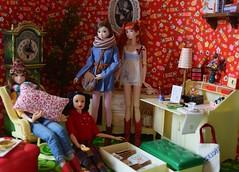 Momoko Dolls Spending the Afternoon Together (Girl Least Likely To) Tags: momoko sekiguchi ooak brunette braids asianfashiondolls japanesetoys dolls miniatures sindyfurniture rement dollhouse dollscene diorama dollroom toys