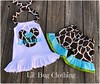 Giraffe Minnie Mouse (Lil' Bug Clothing) Tags: giraffe minnie mouse short halter top personalized new