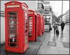 Telephone (www.stefanonocetti.com) Tags: cabina telefono londra london rosso bianco nero telephone europa strada momento magico atmosfera simbolo england inghilterra gran bretagna comunicazione corona