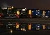 """Seeing Double"" Class 40 Night Shoot - ELR (Liam60009) Tags: eastlancashirerailway elr diesel dieselgala class40 40106 atlanticconveyor 106 40 forties classforty d213 andania 40012 012 013 night nightshoot longexposure puddle reflection blue green eastlancsrailway"
