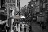 Porto (hans pohl) Tags: porto portugal streets rues buildings bâtiments houses maisons people personnes signs panneau advertising publicités noiretblanccoloré blackandwhite recoloured