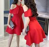 New Women girl Fashion Korean Spring Dress A Line Sexy Halter Off Shoulder Slim (laplace777) Tags: dress fashion halter korean shoulder spring women