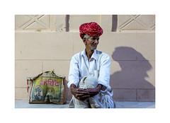 Portrait Jodhpur (helenea-78) Tags: inde jodhpur portrait photoderue streetphotography homme vieil vieilhomme street blanc