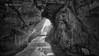 (203/18) La gruta BN (Pablo Arias) Tags: pabloarias photoshop photomatix capturenxd españa cielo nubes gruta bn blancoynegro monocromático reflejos calagaldana menorca