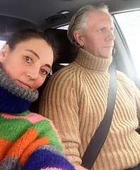 Love in turtleneck (Mytwist) Tags: eva gela e22 08 wool design love passion knit retro heavy wife husband married car driving soft ski