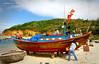 Vietnamese Fishing Boat 9 (rokobilbo) Tags: vietnam river fishingboat fishing sky color tradition