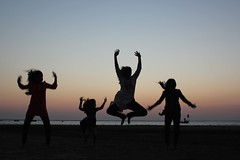 Jumping at the beach: 8 (olive witch) Tags: 2017 abeerhoque bangladesh bd beach coxsbazar day dec17 december fem group outdoors sea sunset