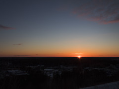 A Beautiful Sunset (makkus1996) Tags: sun sunset landscape hill high dark spring snow orange blue sky cloud canon photography