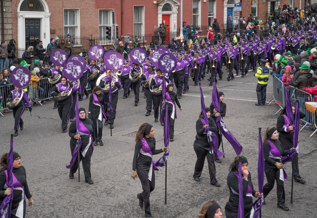 THE LUMBERJACK MARCHING BAND IN ACTION [ ST. PATRICKS DAY PARADE IN DUBLIN 2018]-137577