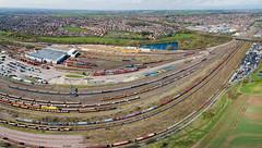 Toton fisheye (robmcrorie) Tags: 66717 toton depot db train rail railway wellingborough rylstone phantom 4