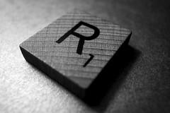 Scrabble (rustman) Tags: scrabble game piece wood tile tiny r1 macro closeup bnw blackandwhite grain grd2 ricohgrd2 texaslife