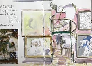 Paris. Musée Gustave Moreau l'escalier 18 mars 2018