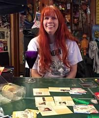 20170428 2039 - Pandemic Legacy date night #3 - Carolyn - (by Beth) - 04392021-1 (Clio CJS) Tags: 20170428 201704 2017 virginia alexandria clintandcarolynshouse upstairs gamenight gamenight20170428 game boardgame playingboardgame playingboardgames playingpandemiclegacy pandemiclegacy table pingpongtable sitting carolyn camerapersonbethh cameraphone smiling smile