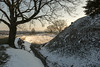 Old Sarum Snow (Crisp-13) Tags: snow old sarum moat salisbury wiltshire tree