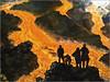 Eruzione dell'Etna (particolare) (FedericoPatti) Tags: renatoguttuso oliosutela eruzionedellõetna lava rosso sagome dipinto arte art 2018 villazito mostradõarte eruzionedell'etna mostrad'arte stilllife disegno