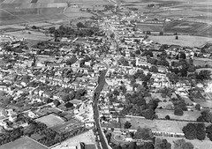 Aerial View of 1950's Chatteris Market Town (Kev Gregory (General)) Tags: 1950 aerial view chatteris cambridgeshire park street wenny road london huntingdon market town fens fenland