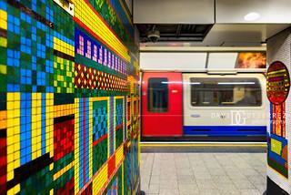 Polychromatic - Tottenham Court Road London Underground Tube Station, London, UK