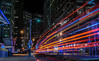 someones screaming again outside the terminal (pbo31) Tags: sanfrancisco california nikon d810 color night black dark march city urban 2018 spring boury pbo31 lightstream traffic roadway infinity bus muni stop financialdistrictsouth transbay terminal red