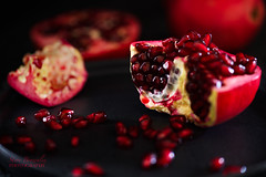 Pomegranate (steve_brownley) Tags: darkfoodphotography food foodphotography nikon pomegranate sigma uk