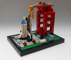 LEGO 6339 Shuttle Launch Pad microbuild (Bafisko) Tags: lego microbuild spaceship vignette moc 6339