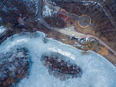 Above (free3yourmind) Tags: above aerial drone quadcopter view xiaomi mi frozen lake ice victory park trees minsk belarus