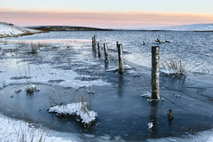 Winter on Cowgreen Reservoir (Benjamin Driver) Tags: cowgreenreservoir cowgreen cow green reservoir water waterscape scape snow winter landscape tees river rivertees ice cold blue orange 2017 teesdale