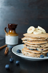Fluffy Blueberry Cinnamon Pancakes (Ginny Williams Photography) Tags: nc north carolina food photographer photography blog blogs blogger bloggers charlotte raleigh stylist styling recipes cooking youtuber channel