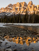 Castle Mountain reflected in the Bow River, Banff National Park, Canada (Ivor-In-Toronto) Tags: bif banffnationalpark castlemountain canada landscape