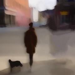 Voie de passage. (pahamel-mtl) Tags: silhouettes noir slowshutter urbain art street