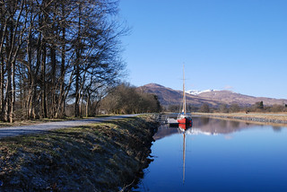 Frosty walk from Banavie to Corpach along the Caledonian Canal.