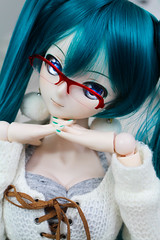 Miku chan ~ (Hasuno_Hanadoll) Tags: dollfiedream dd bjd anime doll hatsune miku vocaloid photography custom volks limited