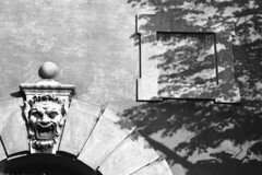 Summer shadows - Modena -  June 2007 (cava961) Tags: modena shadow summer analogue analogico monochrome monocromo bianconero bw